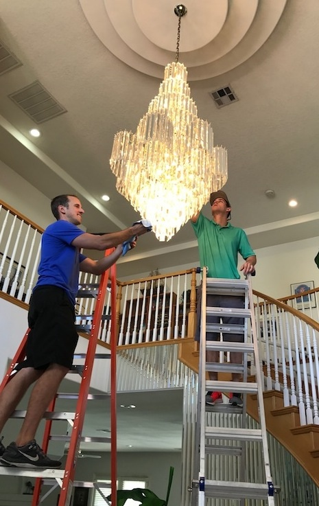Chandelier cleaning las vegas best chandelier cleaners chandelier cleaning las vegas mozeypictures Gallery